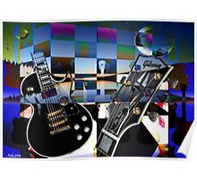 Guitars and Two Moons Poster