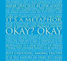 The Fault In Our Stars Block Typography Print by graceonastring