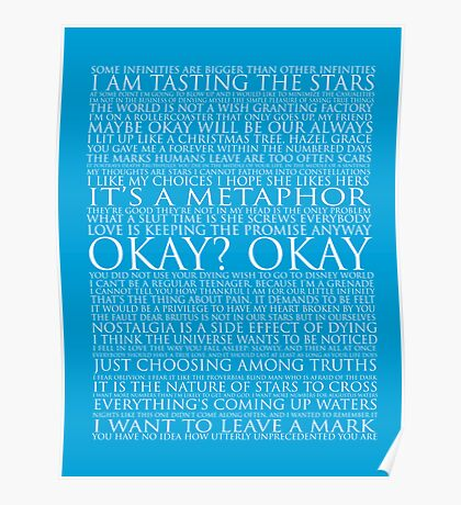 The Fault In Our Stars Block Typography Print Poster