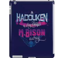 A Hadouken A Day Keeps M.Bison Away iPad Case/Skin