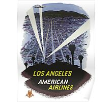 Los Angeles America Air Lines Vintage Travel Poster Poster