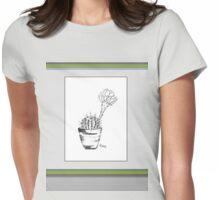 Cactus love (Echinopsis oxygona) Womens Fitted T-Shirt