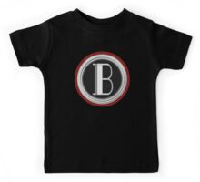Deco Cafe Marquee  Monogram  letter B Kids Tee