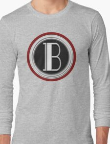 Deco Cafe Marquee  Monogram  letter B Long Sleeve T-Shirt