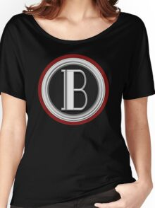 Deco Cafe Marquee  Monogram  letter B Women's Relaxed Fit T-Shirt