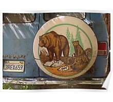 Bears on a Van Poster