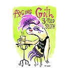 Aging Goth 3-Toed Sloth by Ben Walker