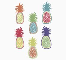 Colorful pineapple. Doodle art One Piece - Short Sleeve