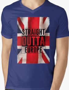 Straight outta Europe Mens V-Neck T-Shirt