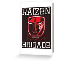 Mazoku Elite Raizen Brigade Greeting Card