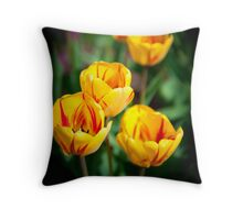 Yello Tulips Throw Pillow