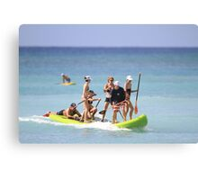 Group Stand Up Paddle Canvas Print