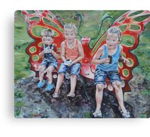 Cool Treats on the Butterfly Bench Canvas Print