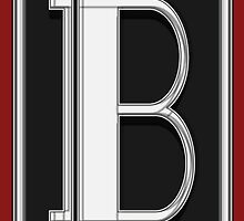 Deco Cafe Marquee  Monogram  letter B by CecelyBloom