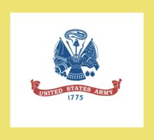 United States Army Flag - USA Sticker Kids Tee