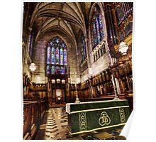 At Rest Inside Duke Chapel Poster
