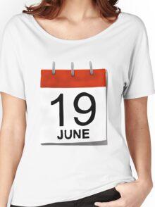 June 19 Women's Relaxed Fit T-Shirt