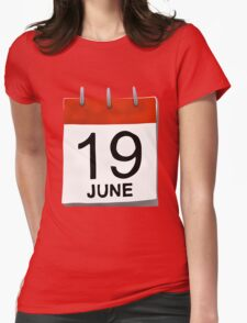 June 19 Womens Fitted T-Shirt