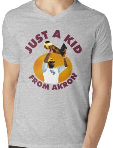 Just A Kid From Akron Mens V-Neck T-Shirt