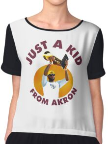 Just A Kid From Akron Chiffon Top