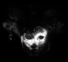White In the Dark - Venetian Mask by Roisin Bogle