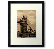 Tower Bridge - antique Framed Print