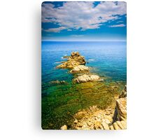 View from a cliff - Javea Canvas Print