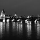 Charles Bridge at Night by kudzu