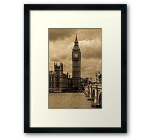 Big Ben - antique Framed Print
