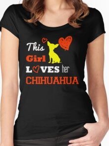 This Girl Loves her Chihuahua Women's Fitted Scoop T-Shirt