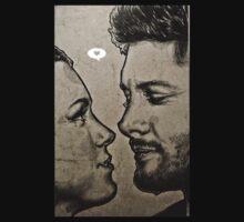 Jensen Ackles & Danneel Harris One Piece - Long Sleeve