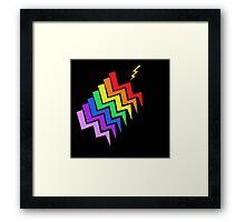 Struck By Rainbow Framed Print