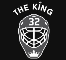King of Los Angeles #32 Jonathan Quick NHL T-shirt by chadkins