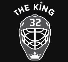 King of Los Angeles #32 Jonathan Quick NHL T-shirt by chadkins