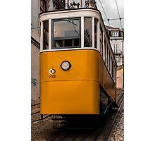 Yellow Tram in Lisbon Photographic Print