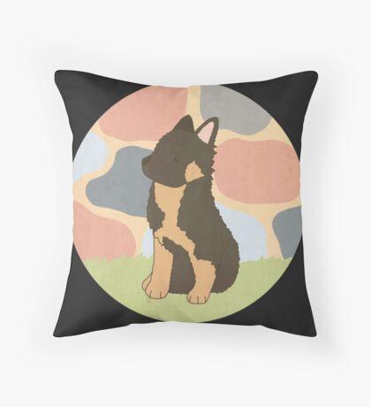 Alsatian Puppy Throw Pillow