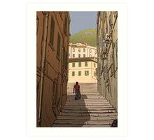 Gibraltar Scene Art Print