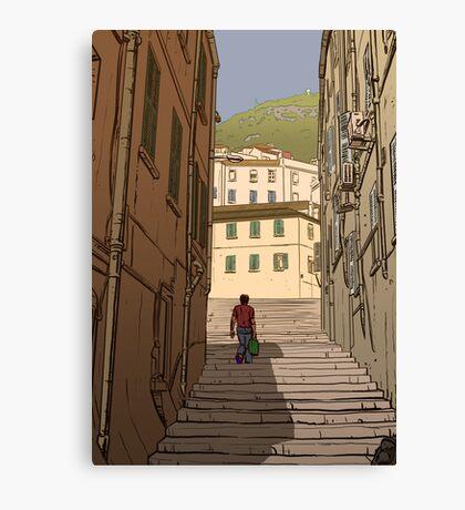 Gibraltar Scene Canvas Print