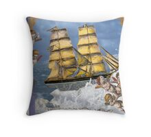 Sail Away 3 Throw Pillow