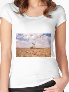 Desert Oasis. Photographed in Israel Women's Fitted Scoop T-Shirt