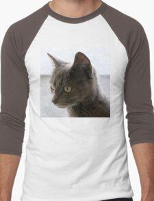 Gray on Gray Men's Baseball ¾ T-Shirt