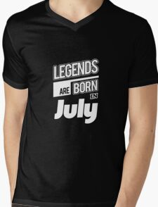 Legends July Born Mens V-Neck T-Shirt