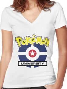 poke univesity Women's Fitted V-Neck T-Shirt