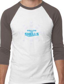 Follow the Shells - All White Men's Baseball ¾ T-Shirt