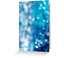 Blue and White Light and Water Greeting Card