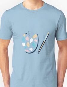 Art palette and paint brush Unisex T-Shirt