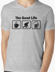 Funny Lawn Bowls The Good Life Mens V-Neck T-Shirt