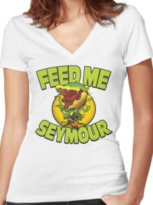A Shop of ...Horrors? Women's Fitted V-Neck T-Shirt