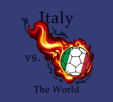 World Cup - Italy Versus the World Flaming Football Unisex T-Shirt