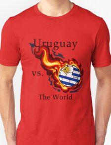 World Cup - Uruguay Versus the World Flaming Football T-Shirt